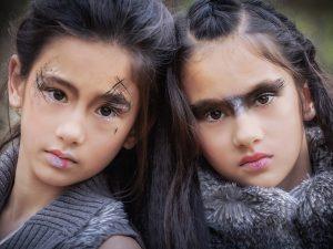 Makeup/Hair Vanessa Cogorno    Photography Griet Decoster    Model Lara & Luna